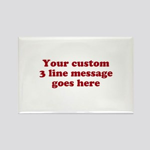 Three Line Custom Message Magnets
